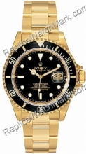 Fecha suiza Rolex Oyster Perpetual Submariner 18kt hombre reloj