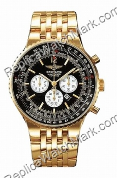 Breitling Navitimer Heritage 18kt Yellow Gold Black Mens Watch K