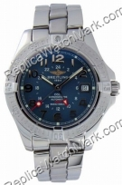 Breitling Aeromarine Colt GMT Steel Blue Mens Watch A3235011-C6-