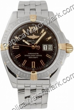 Breitling Windrider Cockpit 18kt Yellow Gold and Steel Black Men