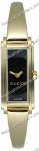 Gucci 109 18kt Gold-Tone Black Ladies Watch YA109524