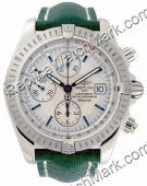 Breitling Windrider Chronomat Evolution Mens Steel Green Watch A