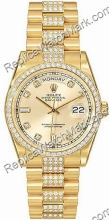 Swiss Rolex Oyster Perpetual Day-Date 18kt Yellow Gold Diamond M