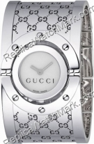 Gucci Ladies Series 112 Twirl Bangle Style Wide White Dial Watch