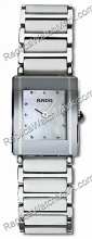 Rado Integral de acero blanco de cerámica RP Ladies Watch R20488