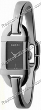 Gucci 6800 Stainless Steel Grey Mesdames Guilloche Watch YA06853