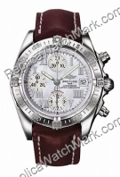 Breitling Windrider Chrono Cockpit Mother-of-Perle Stahl Brown H