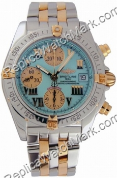 Breitling Windrider Chrono Cockpit 18kt Yellow Gold and Steel Tu