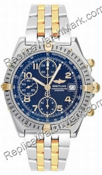 Breitling Windrider Chronomat Evolution 18kt Gelbgold Steel Blue