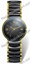 Rado Coupole Black/Gold-Tone Ceramic Mens Watch R22622182