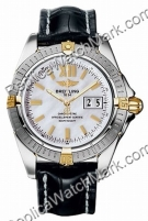 Breitling Windrider Cockpit 18kt Yellow Gold Steel Mother-of-pea
