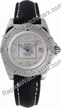 Breitling Windrider Cockpit Lady Diamond Steel Black Strap Damen