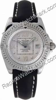 Breitling Windrider Cockpit Lady Diamond Steel Ladies Strap Blac
