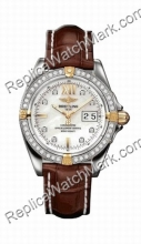 Breitling Cockpit Windrider Diamond jaune 18 kt Mens Steel Gold