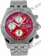 Breitling Windrider Chronomat Mens Evolution Red Steel Watch A13