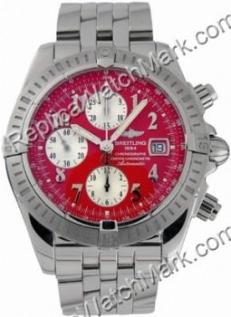 Breitling Windrider Chronomat Evolution Steel Red Mens Watch A13