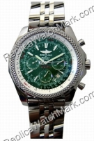 Breitling Bentley Motors Chronograph Steel Mens Green Watch A253