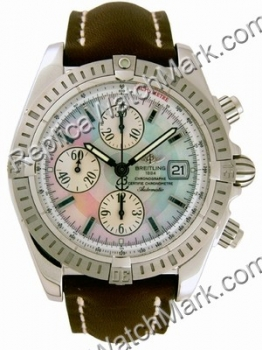 Breitling Windrider Chronomat Evolution Mother-of-Perle Stahl Br