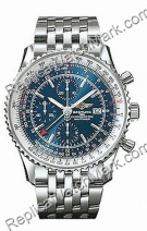 Breitling Navitimer World Steel Blue Mens Watch A2432212-C6-415