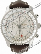 Breitling Navitimer World Steel Brown strap Watch A2432212-G5-44