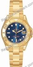 Suiza Hombres Rolex Oyster Perpetuo Yachtmaster Mira 168628-BLSO