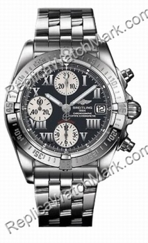 Breitling Windrider Chrono Cockpit Steel Black Mens Watch A13358