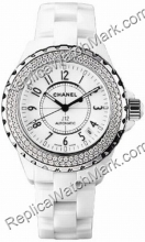 Chanel J12 Ceramic White Diamond Ladies Watch H0967