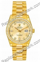 Swiss Rolex Oyster Perpetual Day-Date Gold Diamond Mens Watch 11
