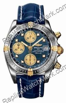 Breitling Windrider Chrono Cockpit 18kt Yellow Gold Steel Blue M