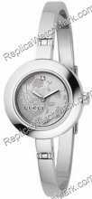 Gucci 105 Argent Floral Mesdames Bangle Diamond Watch YA105508