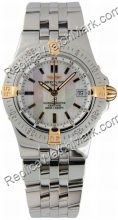Breitling Windrider Starliner 18kt Yellow Gold Steel Ladies Watc