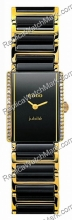 Rado Integral Superjubile Diamante Negro y Oro Ladies Watch Mini