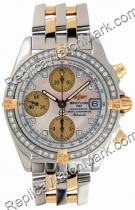 Breitling Chrono Cockpit Windrider Diamond 18kt Yellow Gold Watc