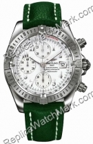 Breitling Chronomat Windrider Mens Steel Evolution Green Watch A