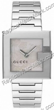 Gucci G-Watch 108G Silver Flower Dial Ladies Watch YA108502