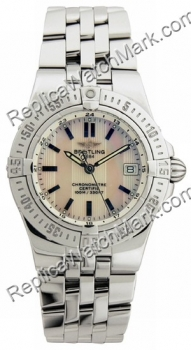 Breitling Windrider Starliner Mother-of-Pearl Striped Dial Steel