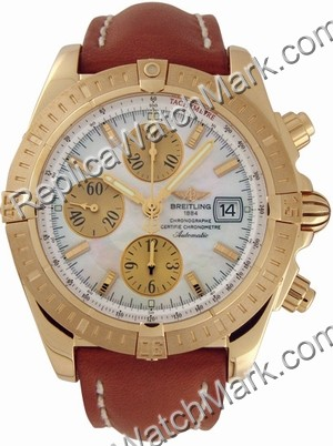 Breitling Chronomat Evolution 18k Yellow Gold Mens Watch K133561