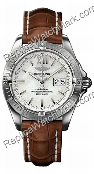 Breitling Windrider Cockpit Steel Brown Mens Watch A4935011-A5-4