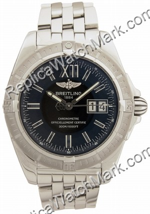Breitling Windrider Cockpit Steel Black Mens Watch A4935011-B7-3