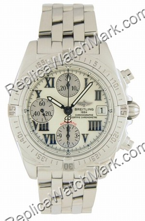 Breitling Chrono Cockpit Windrider madre-perla Steel Mens Watch