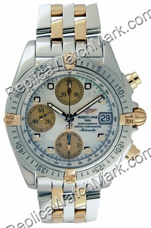 Breitling Windrider Chrono Cockpit 18kt Yellow Gold Steel Mother