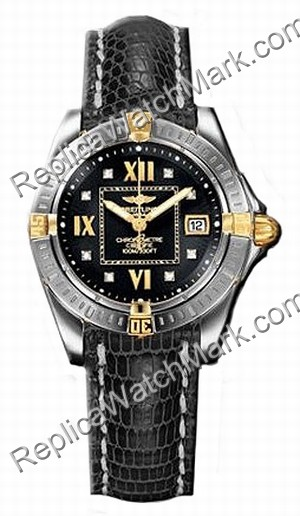 Diamond Windrider Breitling Cockpit Lady oro 18kt Yellow Gold La