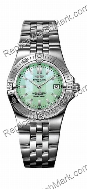 Breitling Windrider Starliner Verde Madre-de-perla Ladies Watch