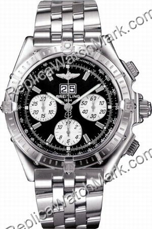 Breitling Windrider Mens Steel Crosswind Black Watch A4435512-B5