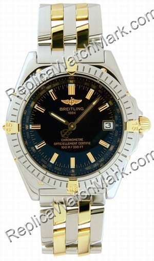 Breitling Windrider Wings Automatic 18kt Yellow Gold Steel Black