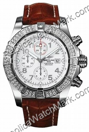 Breitling Aeromarine Super Avenger Diamond Mens Strap Steel Brow