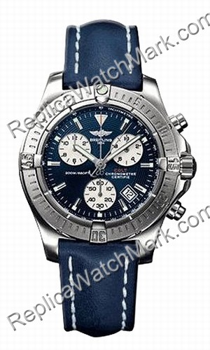 Breitling Chrono Mens Aeromarine Colt Steel Blue Watch A7338011-