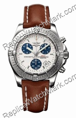 Breitling Chrono Mens Aeromarine Colt Aço Brown Watch A7338011-G