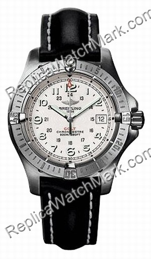 Breitling Aeromarine Colt Quartz Steel Black Mens Watch A7438010