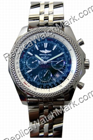 Breitling Bentley Motors Chronograph Steel Blue Herrenuhr A25362